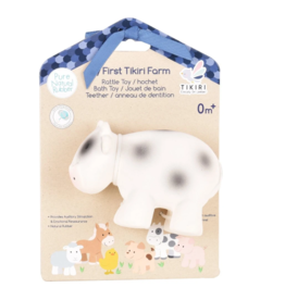 Tikiri tikiri bonikka farm collection my first farm rattle + bath toys - cow