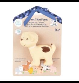 Tikiri tikiri bonikka farm collection my first farm rattle + bath toys - puppy