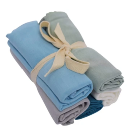Kyte Baby kyte baby solid washcloth combo 5 pack - boy