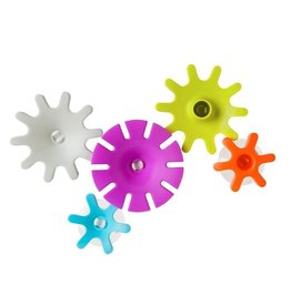 Boon boon cogs building bath toy set 5pc - magenta multi