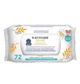 Attitude attitude natural baby wipes fragrance free 72 count