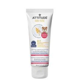 Attitude attitude natural baby 2-in-1 shampoo + body wash - unscented 200 ml