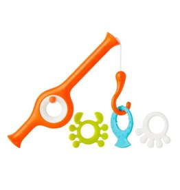 Boon boon cast fishing pole bath toy - orange