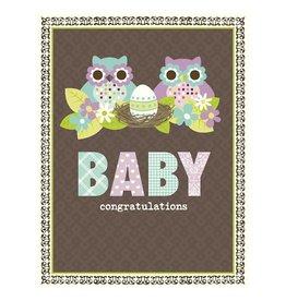 Yellow Bird Paper Greetings yellow bird paper greetings - owl family baby card