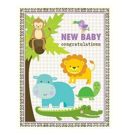 Yellow Bird Paper Greetings yellow bird paper greetings - rain forest baby card
