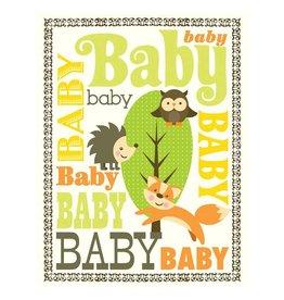 Yellow Bird Paper Greetings yellow bird paper greetings - woodland baby card