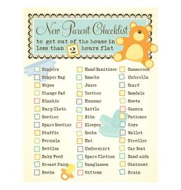 Yellow Bird Paper Greetings yellow bird paper greetings - new parent check list baby card