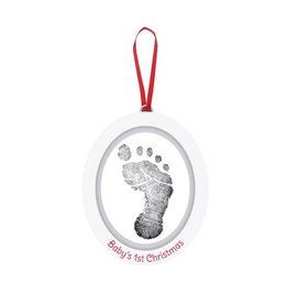 Pearhead pearhead babyprints holiday photo ornament - wooden oval