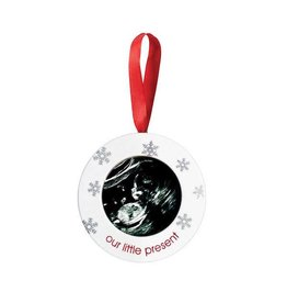 Pearhead pearhead sonogram holiday ornament