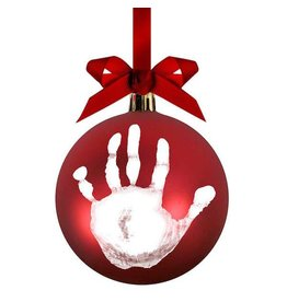 Pearhead pearhead babyprints holiday ball ornament - red