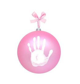 Pearhead pearhead babyprints holiday ball ornament - pink