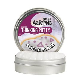 "Crazy Aaron Enterprises Inc. crazy aaron's thinking putty phantoms - arctic flare 4"" tin (3.2 oz) with UV glow charger"