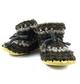 Padraig Cottage padraig cottage children's slippers - brown stripe