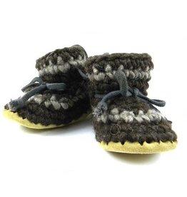 Padraig Cottage padraig cottage youth slippers - brown stripe