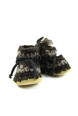 Padraig Cottage padraig cottage newborn & baby slippers - brown stripe