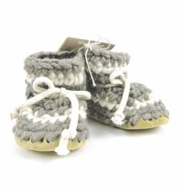 Padraig Cottage padraig cottage children's slippers - grey stripe
