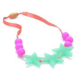 Chewbeads chewbeads broadway jr silicone teething necklace - spearmint (glow in the dark)