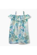 Tea Collection tea collection ruffle neck dress - tropical palms