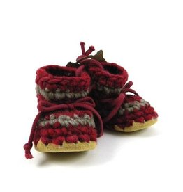Padraig Cottage padraig cottage children's slippers - red stripe
