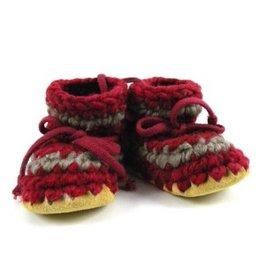Padraig Cottage padraig cottage youth slippers - red stripe