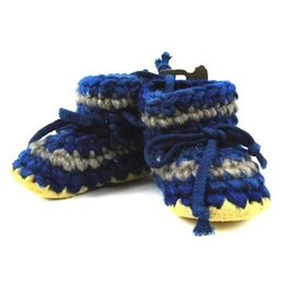 Padraig Cottage padraig cottage children's slippers - denim stripe