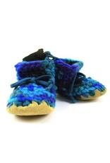 Padraig Cottage padraig cottage children's slippers - blue multi