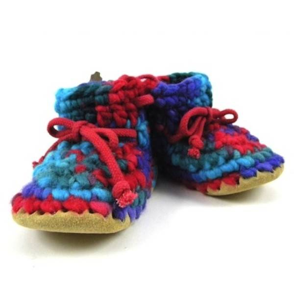 Padraig Cottage padraig cottage children's slippers - red multi