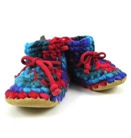 Padraig Cottage padraig cottage youth slippers - red multi