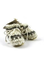 Padraig Cottage padraig cottage newborn & baby slippers - cream stripe