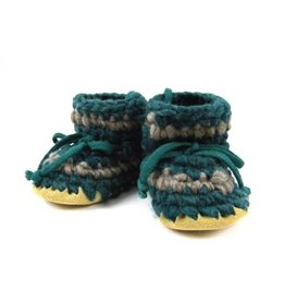 Padraig Cottage padraig cottage newborn & baby slippers - forest stripe
