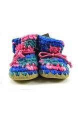 Padraig Cottage padraig cottage newborn & baby slippers - pink multi