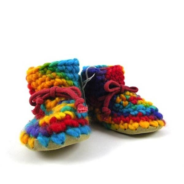 Padraig Cottage padraig cottage newborn & baby slippers - rainbow multi