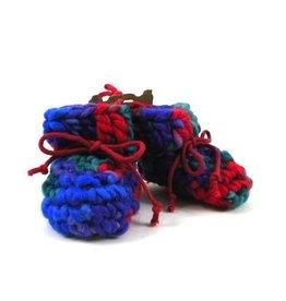 Padraig Cottage padraig cottage newborn & baby slippers - red multi
