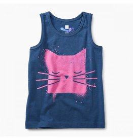 Tea Collection tea collection spray paint kitty graphic tank