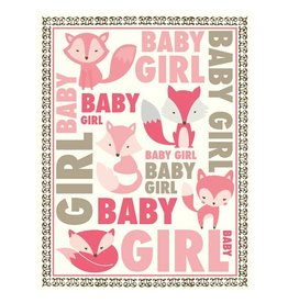 Yellow Bird Paper Greetings yellow bird paper greetings - multi text baby girl fox card