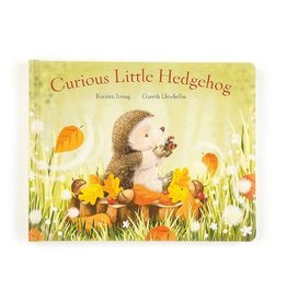 Jellycat jellycat curious little hedgehog hardback book