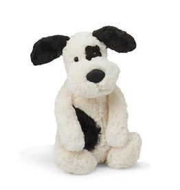 Jellycat jellycat bashful black + cream puppy - medium