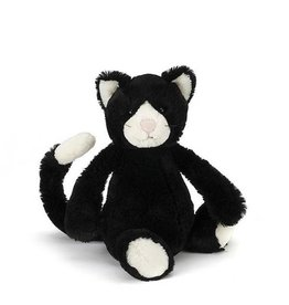 Jellycat jellycat bashful black & white kitten - medium