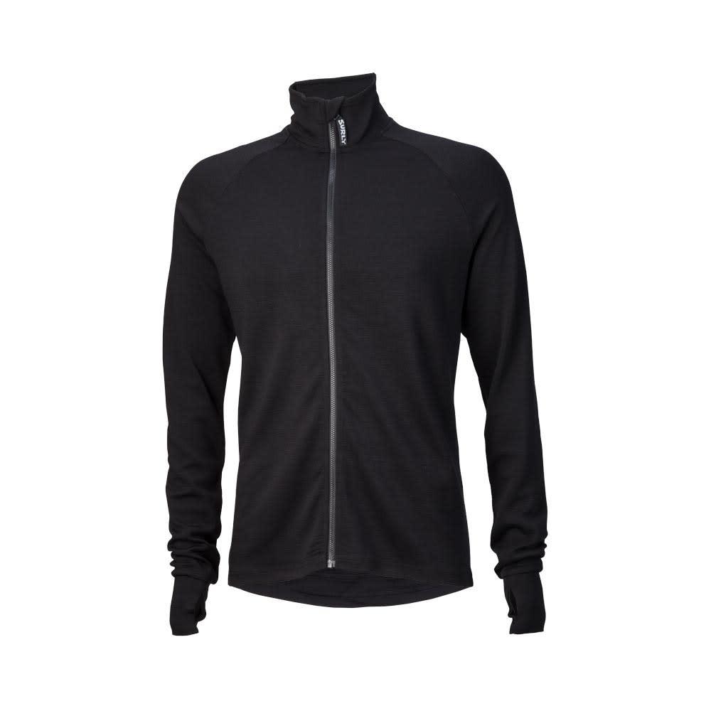 Surly Surly Merino Wool Men's Long Sleeve Jersey: Black LG
