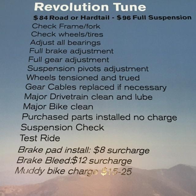 Revolution Tune up Full suspension
