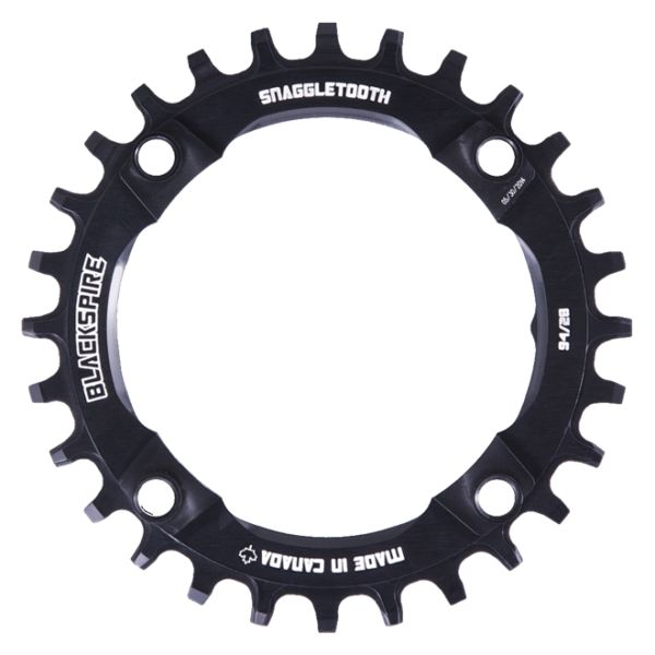 Blackspire Chainring, Blackspire Snaggletooth N/W Round 94 BCD Black