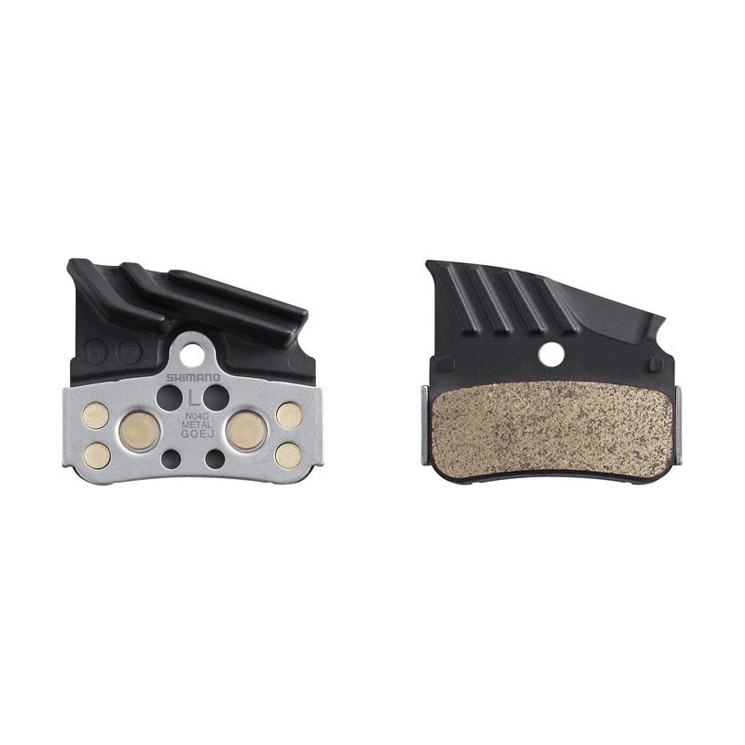 Shimano Brake Pads, N04C MetalL Pad, W/Fin & Spring