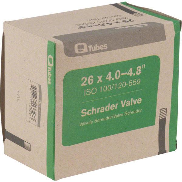 """Q-Tubes Q-Tubes  26 x 4.0-4.8"""" Fat Bike Tube: Schrader Valve"""
