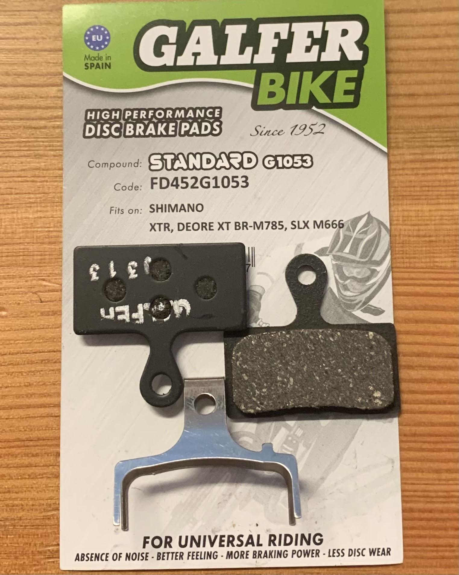Galfer Brake pad, GALFER SHIMANO XTR (2011-18), XT (2014-), M9020/8100/988/985/980/785/675 STANDARD