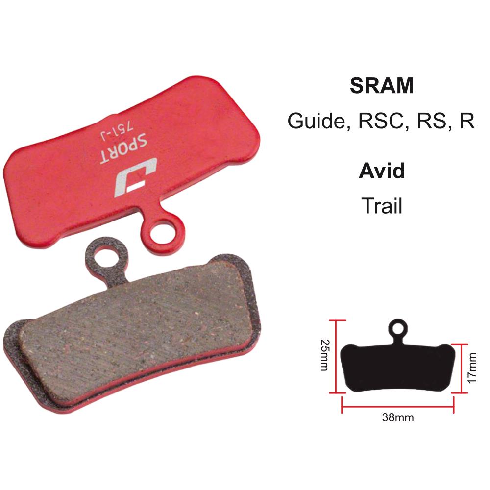 JAGWIRE Brake pad, Jagwire Semi-metallic, SRAM Guide Ultimate, RSC, RS, R/ Avid Trail