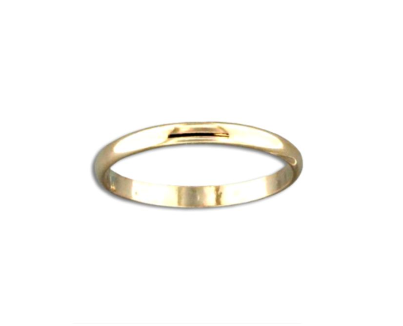 Mark Steel Half Round Ring - 2mm Gold Filled