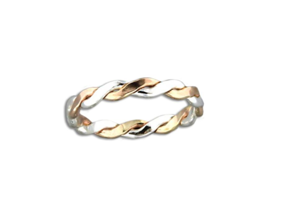Mark Steel Braid Ring - 2.8mm Mix Metals