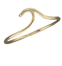 Mark Steel Ocean Wave Ring Gold Filled