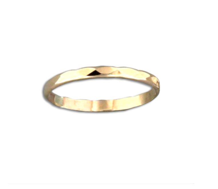Mark Steel Random Facet Ring Gold Filled