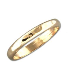 Mark Steel Hammered Wide Band Gold Filled